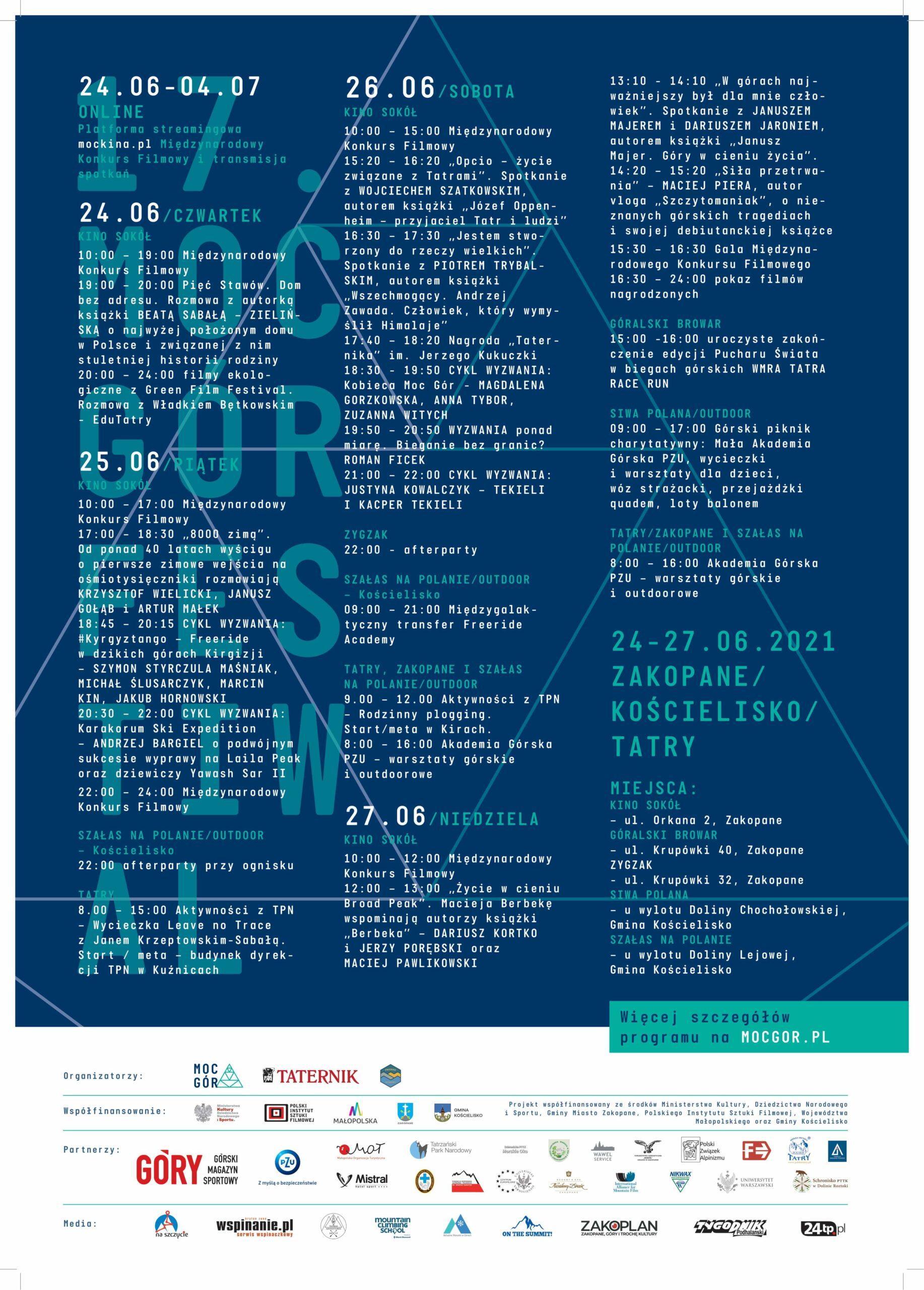 17. Moc Gór Festiwal: Międzynarodowy Konkurs Filmowy
